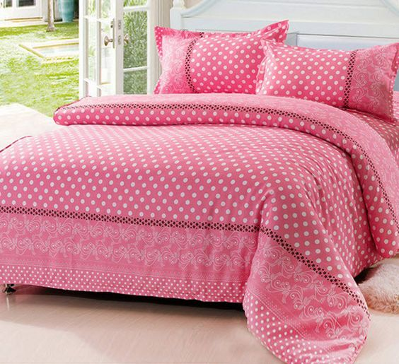 classic polka dot duvet cover all blue green yellow pink polka dot comforter sets skin friendly. Black Bedroom Furniture Sets. Home Design Ideas