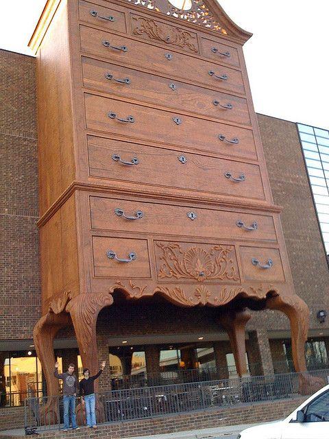 10 American Landmarks on Growth Hormones:  1. Giant Dresser: Highpoint, North Carolina