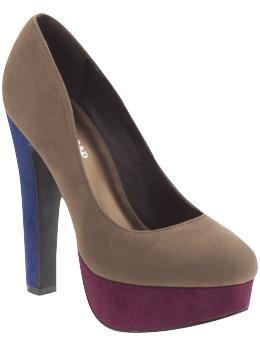 color block heels.