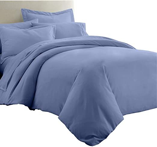 8 Pieces 100 Bamboo Bed In A Bag Set California King Size Bamboo Viscose Solid Periwinkle Sheet Set Amp D Comforter Sets Duvet Cover Sets Bamboo Bedding