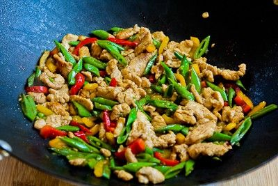 for Stir Fried Turkey (or chicken) with Sugar Snap Peas and Peppers ...