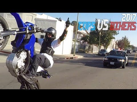 Cops Vs Bikers Running From Police Chase Motorcycle Caught By Cop