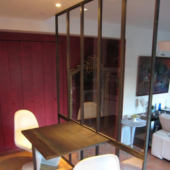 verriere type atelier d 39 artiste et table en m tal design et r alisation les ateliers du 4. Black Bedroom Furniture Sets. Home Design Ideas
