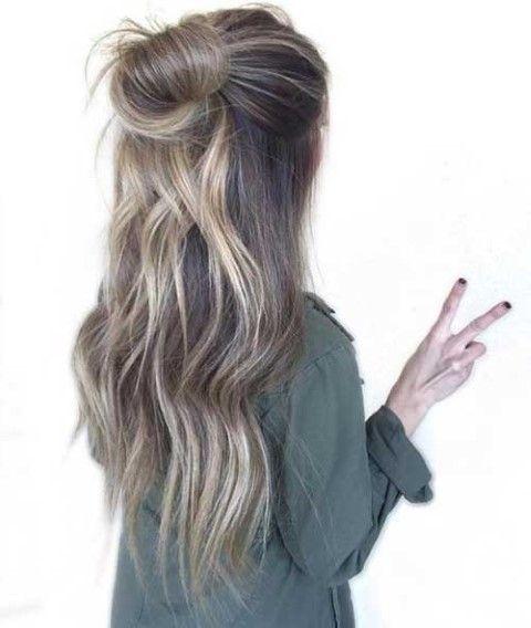 Haarfarben Frisuren 2021 Damen Lang