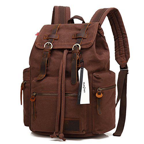 Vintage Men Leather Backpack Laptop School Shoulder Bag Travel Rucksack