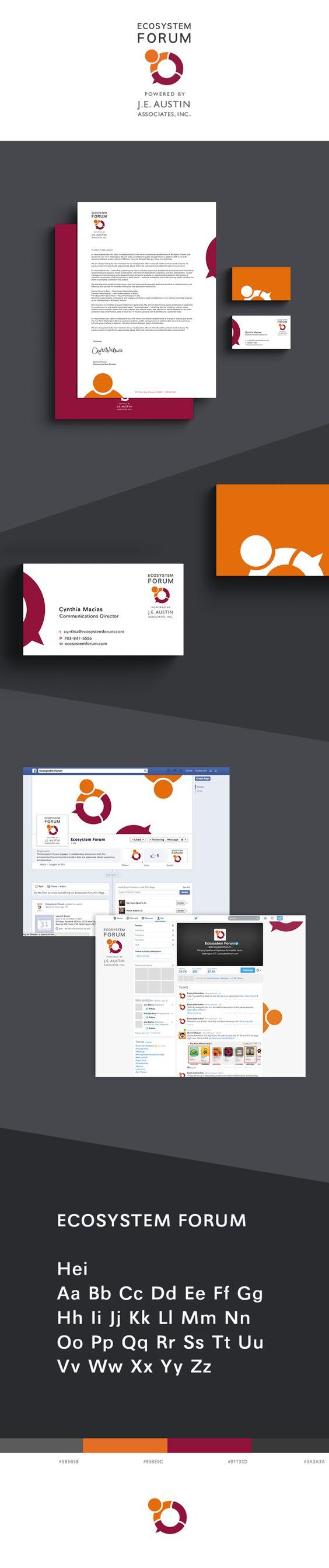 Ecosystem Forum Branding by Kassandra Zuanich, via Behance