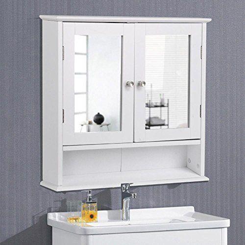 Yaheetech Medicine Cabinets Wooden Bathroom Wall Cabinet Https Www Amazon Com Bathroom Wall Cabinets Wooden Storage Cabinet Wall Mounted Medicine Cabinet
