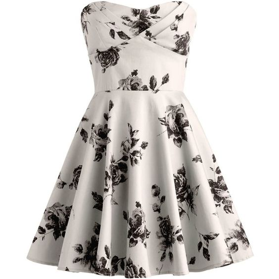 Vintage Rose Dress ($100) ❤ liked on Polyvore - My Future Closet ...