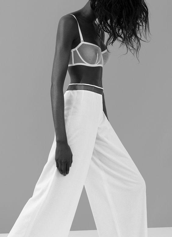 No fuss white lingerie. Minimalistic elegance. Emilia loves white lingerie.