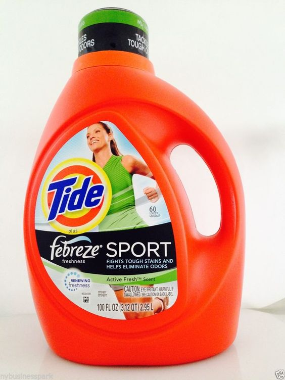 Tide Plus Febreze SPORT Renewing Freshness Active Fresh Liquid Laundry Detergent #Tide
