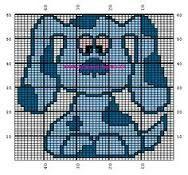 Blues Clues Cross Stitch or Perler Bead Pattern Perler Beads- Blues Cl...