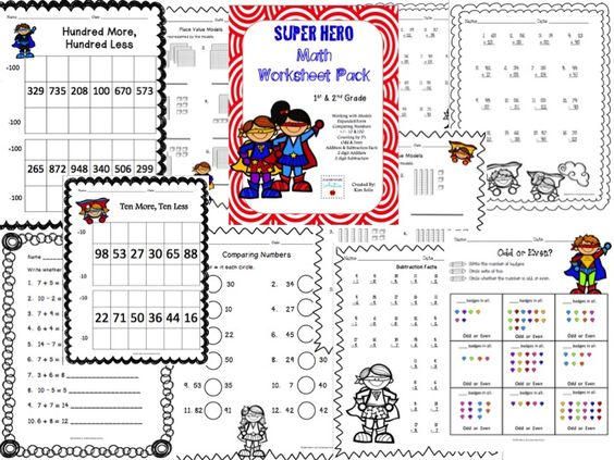 math worksheet : superhero math worksheet pack 1st  2nd grade  math worksheets  : Super Maths Worksheets