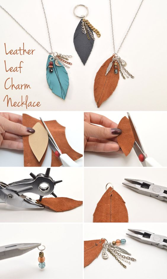 With autumn in full swing, this nature-inspired project will have you layering charms in no time. This necklace allows you to use up scraps and leftover craft supplies, making it a great stash-buster for the new season. Wear it with a long cardigan or a leather jacket for a laid-back, fall-friendly look.: