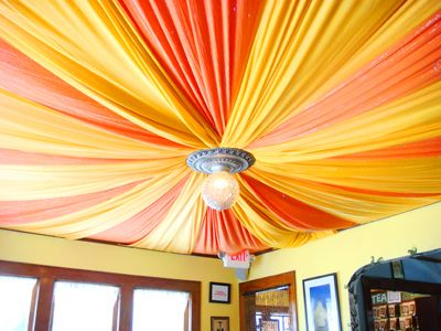 Fabric ceiling house ideas pinterest pastel jewel Rules for painting ceilings