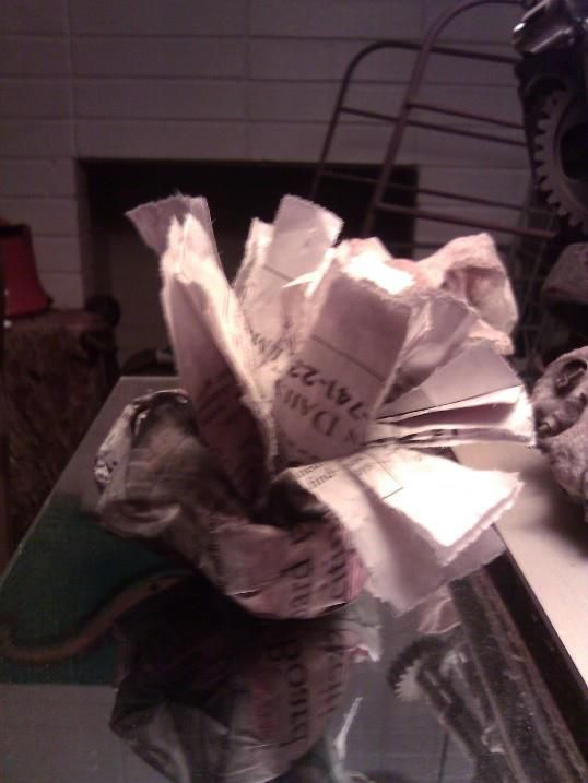 old candles with no wick left? Make firstarters out of the candle pieces! Wrap old newspaper around the chunks of wax, and light the newspaper. All that is left is to sit back and enjoy the warmth :)