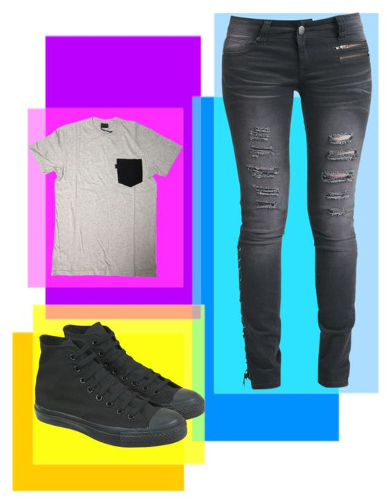 """Oh"" by believeinunicorns-137 ❤ liked on Polyvore featuring Converse, Levi's and Rock Rebel"