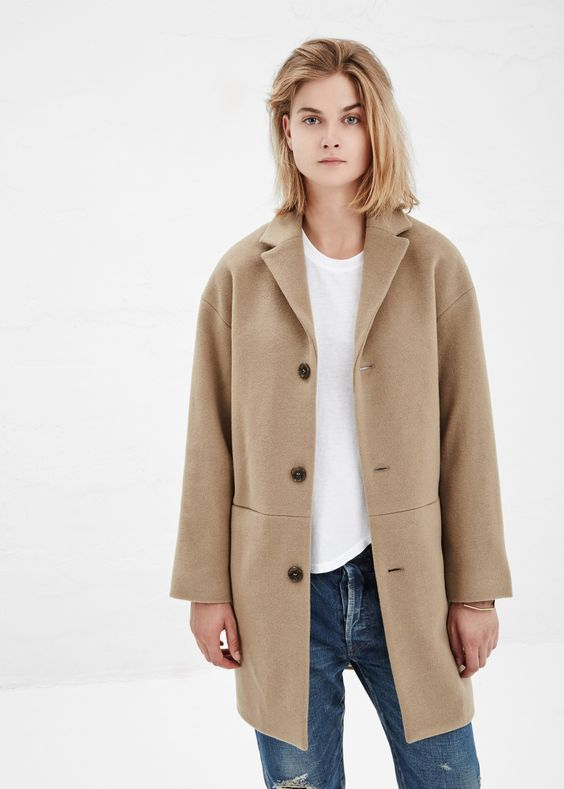 Images of Womens Tan Coat - Reikian