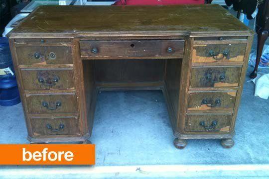 Restoring a Solid Wood Desk — home.made