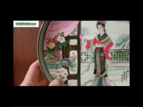 http://www.ToothyGrinsStore.com/plates    Beauties of The Red Mansion - Plate Series - Plate 3 - Hsi-Feng