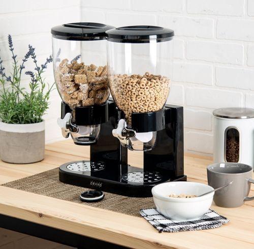 Doble YaeKoo Dispensador Doble y Triple de Cereales muesli y Corn Flak dispensador con Botes de pl/ástico Transparente para Mantener los Alimentos Frescos y Secos
