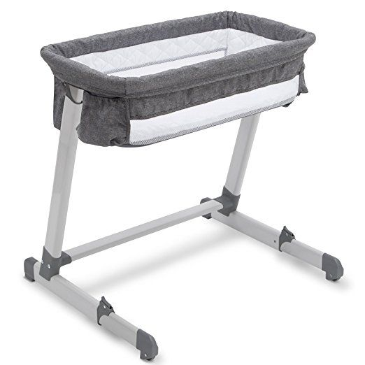 One Or Our Best Bassinets Of The Year Check Out The Simmons Kids By The Bed City Sleeper Bassinet Grey Tweed Bed Bassinet Baby Bedside Sleeper Bassinet