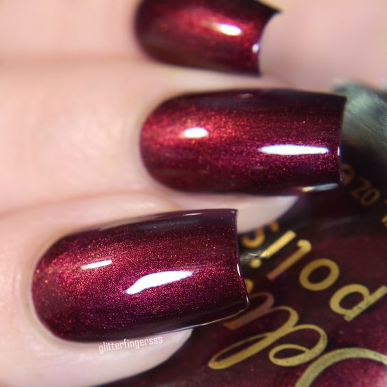 Poisoned Vine - vampy red nail polish from Delush Polish's Knights of Thrones collection.: