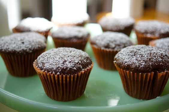 Double Chocolate Zucchini Cupcakes from @KatieMorford