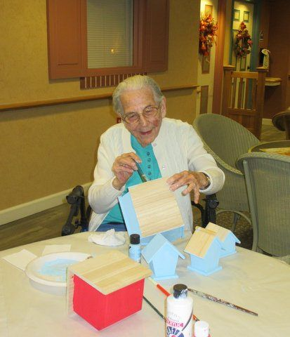 Resident Artist: Flora - Heritage at Dover Senior Living Community, DE