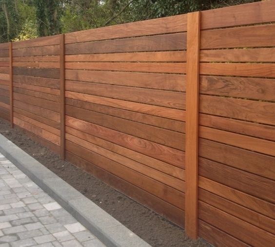 Image of: Horizontal Fence Panels Style