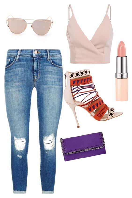 """""""Gosh"""" by lacybecnel ❤ liked on Polyvore featuring Schutz, J Brand and STELLA McCARTNEY"""