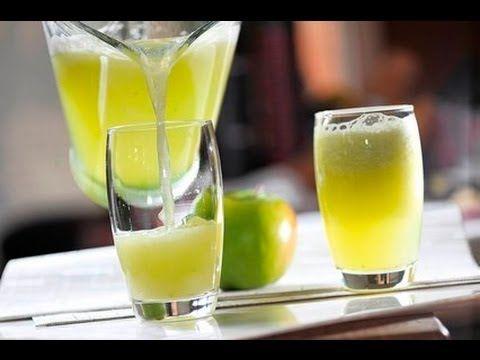 Agua de manzana verde con limón - Green Apple Water with ...