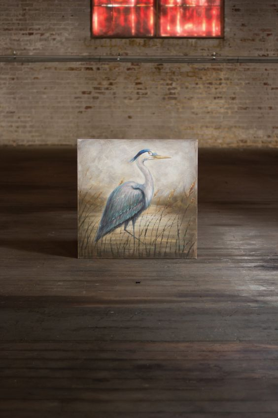 Kalalou Oil Painting - Blue Heron