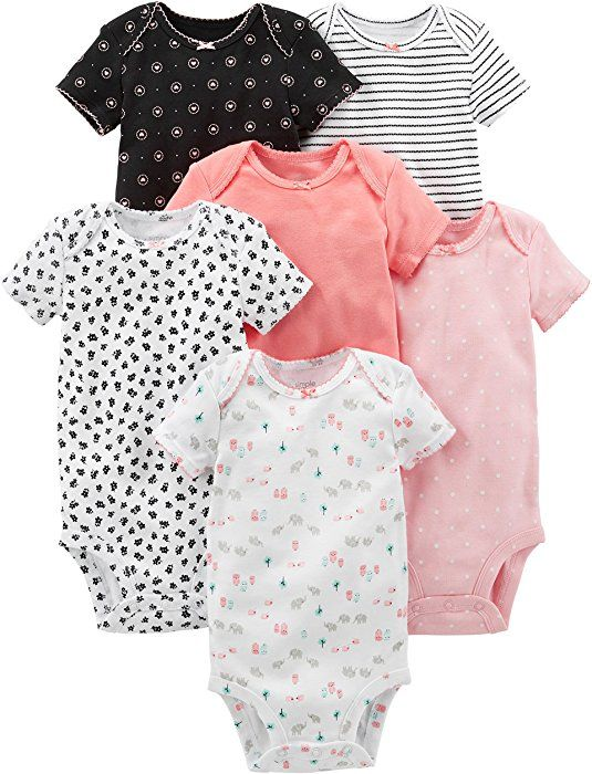 3 Pack Plain Black 100/% Cotton Babygrow baby body suit babies romper multipack