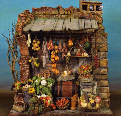 vendita frutta e verdura - Presepe Napoletano: