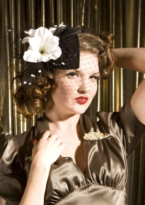 Veiled Lady Fascinator Fascinator 1940s Fashion Vintage Hairstyles