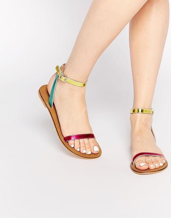 2020 Sandalet Modelleri Pembe Sari Yesil Kemerli Tokali Kadin Ayakkabi Topuklu Sandalet Moda Ayakkabilar