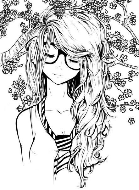 Pin By Cristina Plantalech On Colouring Pages Cute Drawings Cute Girl Drawing Girl Drawing