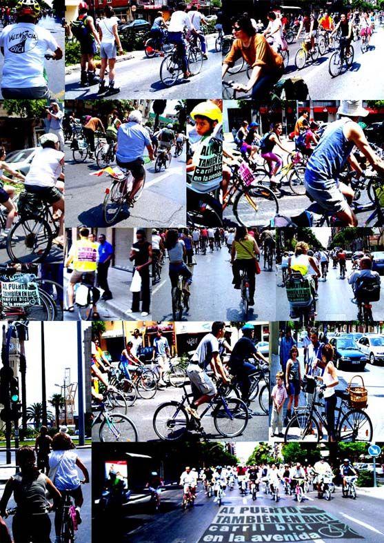 Bicifestación por un carril bici a la Avda del Puerto. València 200506