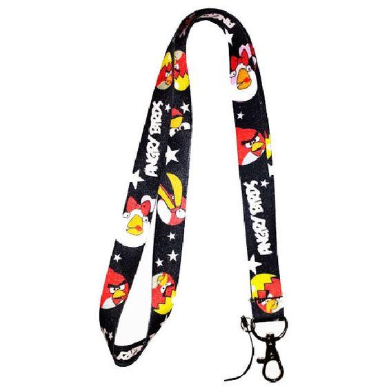 Angry Birds Lanyard Keychain Badge Holder Black | Balli Gifts