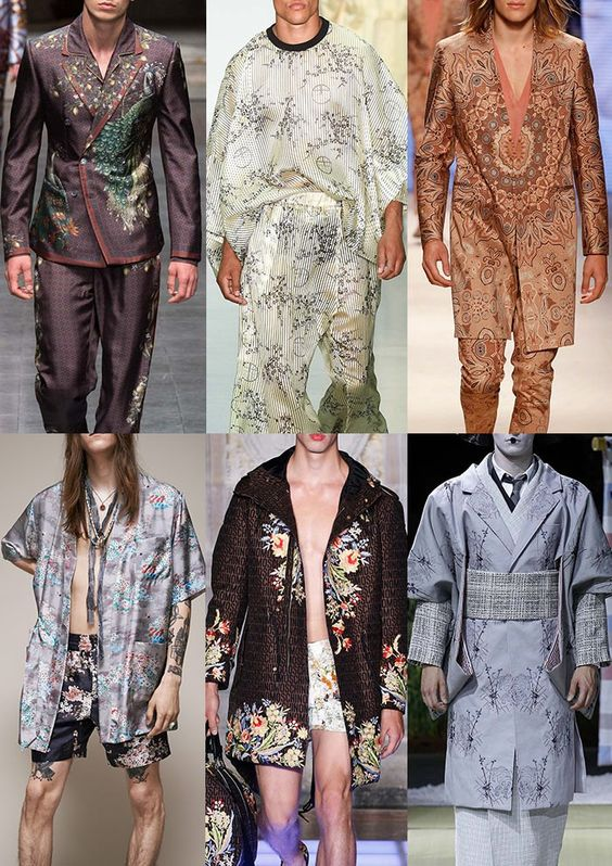 Menswear Spring/Summer 2016 Catwalk Print & Pattern Trend Highlights Part 1 - Eastern Promise - Dolce & Gabbana /Astrid Anderson / Etro / Marc Jacobs / Moschino / Thom Browne
