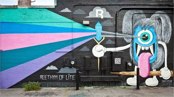 Reebok mural campaign created by Zoom in Atlanta, GA