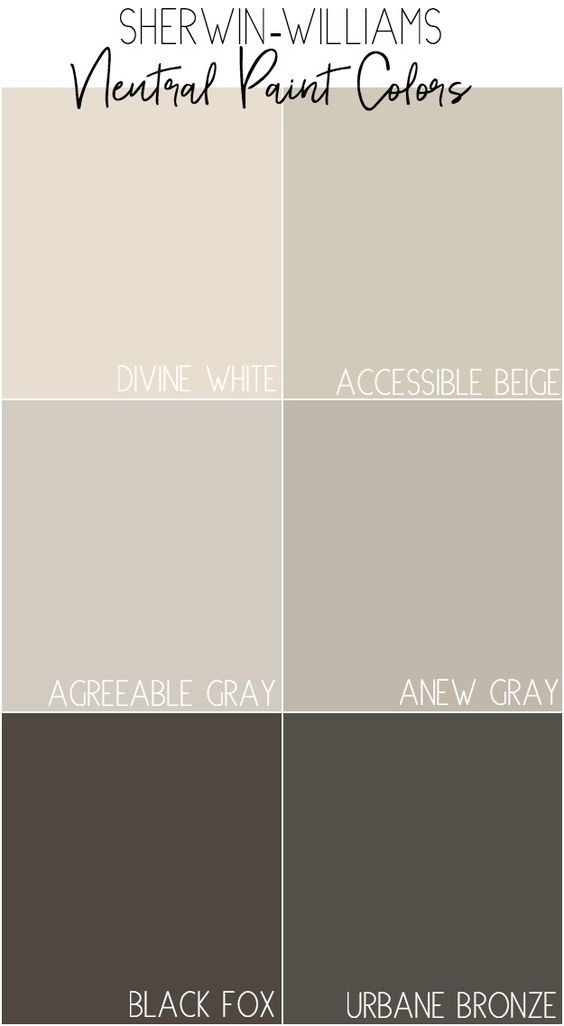 Sherwin Williams Neutral Paint Colors With Description And Photos Of How The Colors Look At