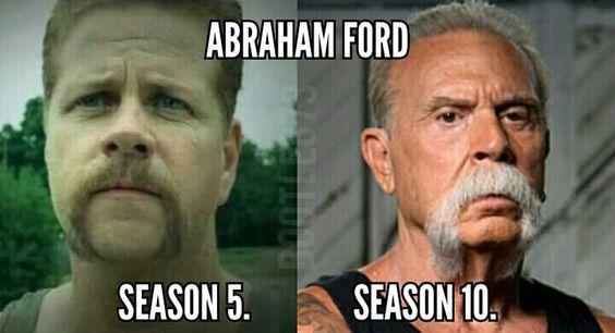 Abraham Ford Season 5 and Season 10