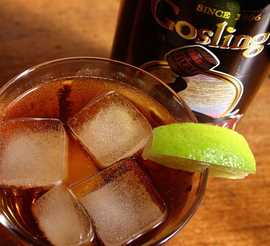 Dark and Stormy: Rum, Ginger Beer, and Lime