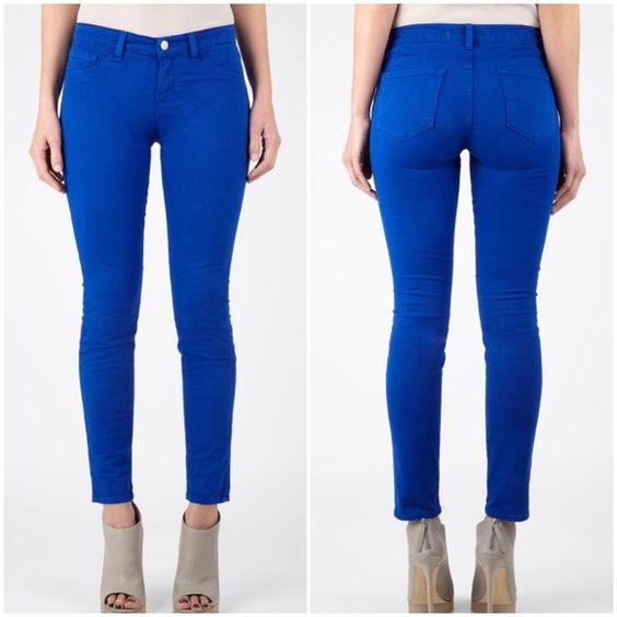 J Brand Royal Blue Skinny Leg Jeans | The o&39jays J brand jeans