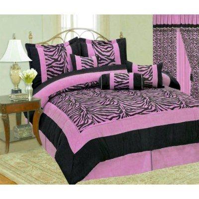 Bedspreads full teen girls on cute zebra print comforter for Cute zebra bedroom ideas