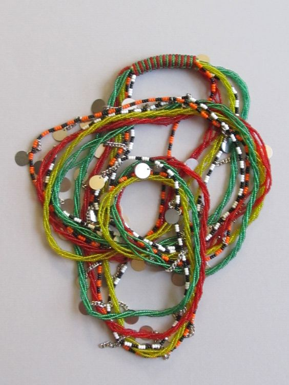 Maasai Beaded Necklace from Kenya KMN 5 by FTCscreendoorstudios