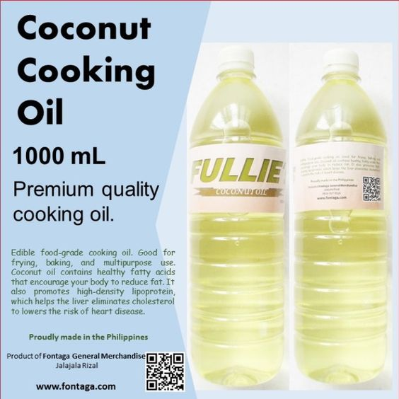 Pure Coconut Oil Cooking Oil 1 Liter (1000mL)