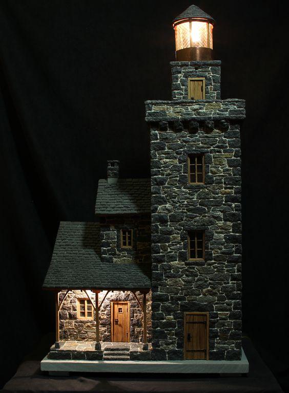 Miniature stone lighthouses lighthouse miniatures and stone stone lighthouse sciox Choice Image