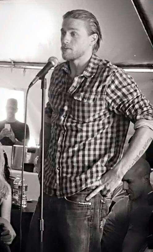 Charlie speaks at Crew Appreciation Day SoA, 2014